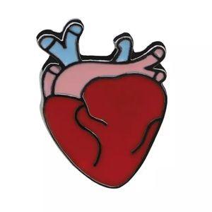 Jewelry - NEW Heart Science Physician Gift Enamel Pin Brooch